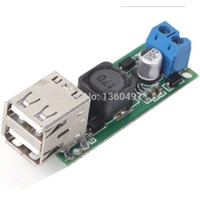 Wholesale DC Converter Automatic Up Down DIY DC V to V A Double USB Voltage Step Down Regulator Module Green