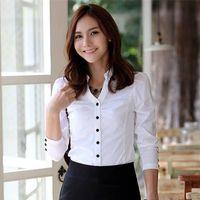 Cheap roupas blusas femininas Best formal women work wear