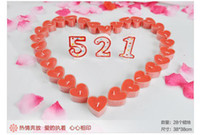 Wholesale Christmas gate Heart shaped glass candle Romantic Rose aromatherapy candles christmas Holiday Decoration