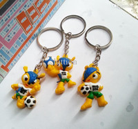 Wholesale World Cup Fans Favorite The Cartoon Mascot Key Chain Phone Pendant Small Gifts Gift The Creative Patterns