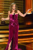 black velvet dress - Long Celebrity Dresses Allison Janney th Emmy Awards Bow Strapless Velvet Backless Slit New Arrival Women s Clothing