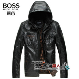 Wholesale Autumn Winter Fur Australian Sheep Skin Leisure Fashion Hooded Jacket Men s Jackets Genuine Leather