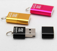 Wholesale 100pcs High Speed Mini USB Micro SD card T Flash TF M2 Memory Card Reader adapter gb gb gb gb gb gb TF Card