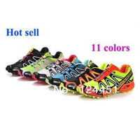 Wholesale Men Tennis shoes salomon sports lightweight running shoes mens sneakers salomon Speed Cross cs colors with box