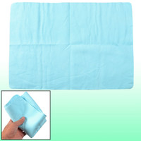 Cheap Car Glass Cleaning Light Blue Texture Synthetic Chamois Cham Towel w Holder