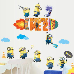 Cartoon Movie Despicable Me Wall Stickers Baby Kids Room Decorative Wall Decals Home Decoration Wall Paper Art Lego Movie Poster Adhesive