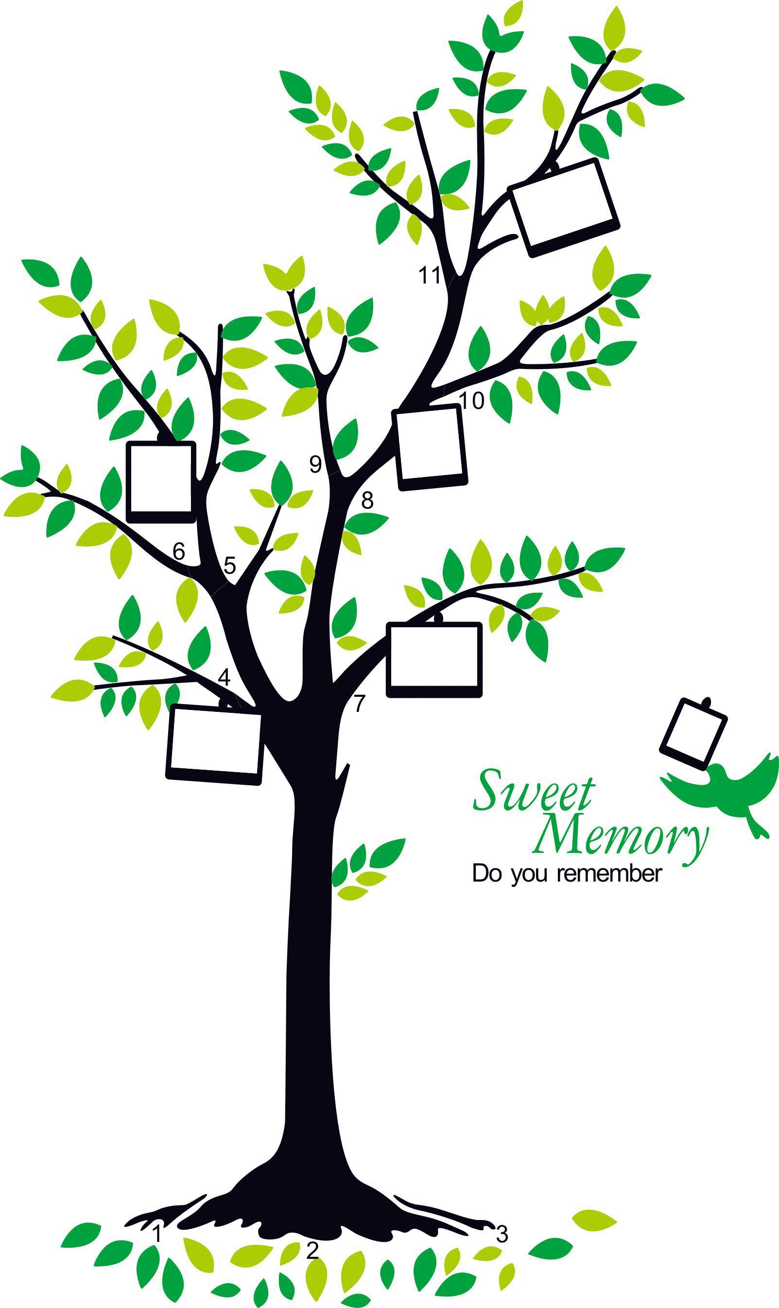 Family Tree Photo Wall large removable photo frame family tree wall sticker poster