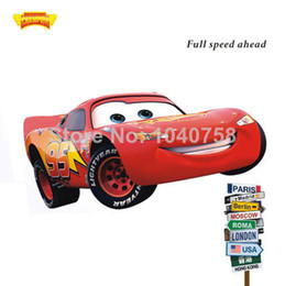 Wholesale PVC Cartoon Wall Stickers for Kids Rooms Lego Movie Cars on a Wall Decals Art Poster Wallpaper Kids Baby Home Decoration