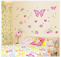 art live tv - Large Paper Flowers Decorative Butterfly Wall Stickers Home Decor Poster Flower Decoration TV Floral Wall Decals Art
