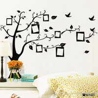 Wholesale PVC Removable Photo Frame Family Tree Wall Stickers Decorative Wall Decals Tree Home Decoration Wall Art Wallpaper Right Facing