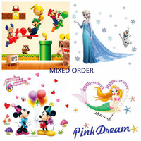 cartoon wall stickers - Mix Order Removable Christmas Wall Sticker for Kids Rooms Decorative Wall Decals Cartoon Wall Sticker Home Decor Wallpaper Wall Art