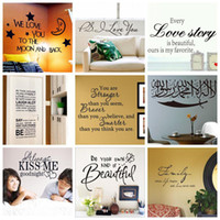 wall quotes - Mix Order Removable Wall Quotes Stickers Decorative Vinyl Quotes Wall Decal and Saying Home Decoration Wall Art Family Love Quote Lettering