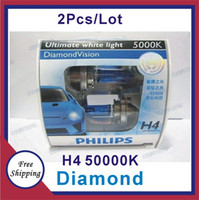 Wholesale 100 original authentic diamond visual K V W H4 automobile halogen bulb one to sell