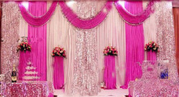 Wholesale 3m m wedding backdrop swag Party Curtain Celebration Stage Performance Background Drape With Beads Sequins Edge wd608
