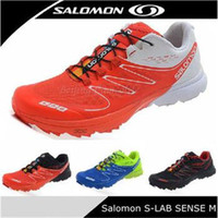men tennis shoes - 2014 New Salomon Contagrip S LAB SENSE ULTRA SG Men s Athletic Running shoes Zapatillas Hombre Tennis Solomon S LAB FootWear