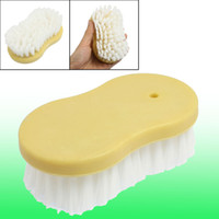 Wholesale Portable Car Vehicle Seat Plastic Grip Cleaning Brush Yellow White