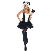 Wholesale New Sexy Panda Design Suit Halloween Party Performance Cosplay Anime Costume VLS6830