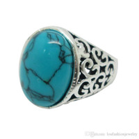 Gemstone ring - 2014 Promotion New High Quality Vintage Gemstone Rings Elegant European Rings Turquoise Rings assorted Designs