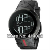 Wholesale Hot Sale Top Brand Watch High Quality Analog Digital Watches Fashion Black Silicon Band Luxury Watch Dual Time Zone Wristwatch Sports Watch