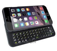 Wholesale Wireless Bluetooth Keyboard Ultrathin Slide Out Backlight Case Cover for iPhone quot i6 Bluetooth Keyboard