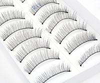 Wholesale Black Natural Hand Made Long False Eyelashes Makeup Cosmetic Fake Eye Lashes Pairs in Box
