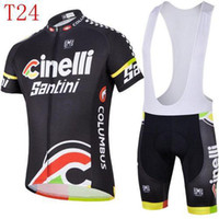 Wholesale Quick Delivery popular new style santini team Cycling Jersey Short Sleeve bib clothing set good quality outdoor fitting bodysuits