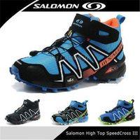 Cheap 2014 New High Top Salomon SpeedCross CS 3 Mid for Men Athletic Running shoes Outdoor Sport Hiking shoe Zapatillas Hombre Solomon