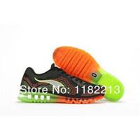 Wholesale Hot sale fashion man brand running shoes woman sports shoes MAX man black orange colour size