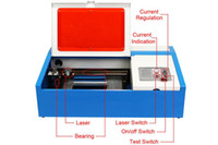 Wholesale CO2 LASER ENGRAVING MACHINE USB PORT CONNECT MOSHIDRAW SOFTWARE W LASER TUBE
