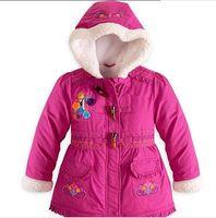 Wholesale frozen jacket clothes children winter coats Girls cotton padded jacket Children down jacket frozen coat for kids XS S M L XL