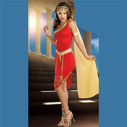 Wholesale Halloween Party Cosplay Anime Costume Role Playing Greek Athena Costume Sexy Suit Clothing FZ914