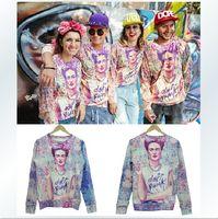 Imprimé floral t-shirts femmes Avis-Femmes Hommes Sweater Floral Imprimé Unisex Pull Pull Sweatshirts Punk Frida Patterns Tee Tops Sportwear Casual Shirt Pantalons # W153