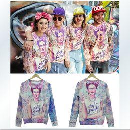 Femmes Hommes Sweater Floral imprimé Unisex Pull Pull Sweat Couples Punk Frida Patterns Tee Tops Sportwear Casual Shirt Pantalons # W153 à partir de imprimé floral t-shirts femmes fabricateur