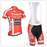 cycling jersey bib shorts - 2014 SAXO BANK Cycling jersey bib shorts THINKOFF credit system short sleeves cycling bib jersey set ORANGE size XS XL for choice