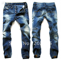 cotton jeans - Hot sell new arrive brand fashion cotton jean long straight size28 blue men s jeans