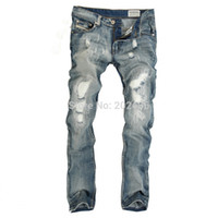 Wholesale Hot sell new arrive brand fashion cotton jean long straight size29 blue men s jeans DS970