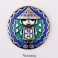Clasps & Hooks custom design jewelry - Vocheng NOOSA Latest Design Fashion Custom Snap Button Interchangeable Charms Jewelry Buttons on Jewelry Accessories Vn
