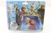 Wholesale FROZEN Children Watches and Purse Set the best holiday gift beautifully boxed variety of styles A029