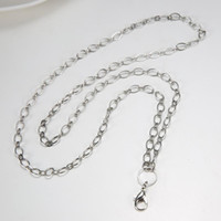 Wholesale 80CM copper material floating locket chain DIY jewelry necklace A019