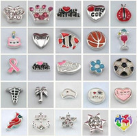 Wholesale 300pcs models mixed batch floating lockets charms alloy pendant glass box gadget accessories A013