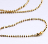 Chains Celtic Gift 80cm ball chain wave beads floating locket chain DIY jewelry multicolor optional A002