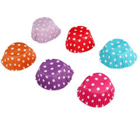 Wholesale 50 X Spotty Dots Muffin Cupcake Paper Cases Liners Cups