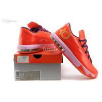 Cheap China wholesale mens sports shoes KD 6 basketball kicks kiss me lockdown support dynamic flywire superior comfort