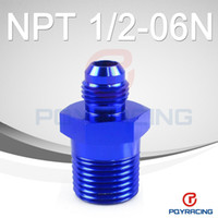 Wholesale NEW PQY STORE AN6 NPT1 AN6 to NPT Straight Adapter Flare Fitting auto hose fitting Male