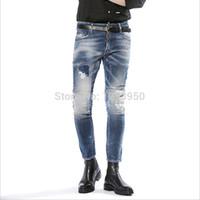 Wholesale Dsq winter men jeans mens pants slim cowboy jean jeans mid waist casual famous brand men skinny jeans