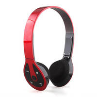 Wholesale Sport Running MP3 Player Headset Headphone FM Support TF Card Red