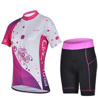 Wholesale cheji team pro cycling jerseys short sleeve outdoor road bicycle clothes for women
