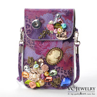 PU apple jewelry bags - Vocheng NOOSA Ginger Snap Buttons Jewelry for Girl New Arrival colors Mobile Phone Bag Pocket With Trend Jewelry Vbag