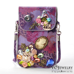 Wholesale Vocheng NOOSA Ginger Snap Buttons Jewelry for Girl New Arrival colors Mobile Phone Bag Pocket With Trend Jewelry Vbag