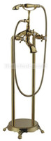 Wholesale FedEx Antique Floor Standing Tub Faucet with Hand Shower Ti PVD Finish